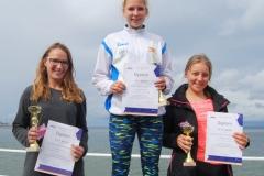 1. Anna Dreslerska Neptun Gdańsk 2. Katarzyna Skowron 3. Małgorzata Andrulewicz obie z MKP Flota Gdynia